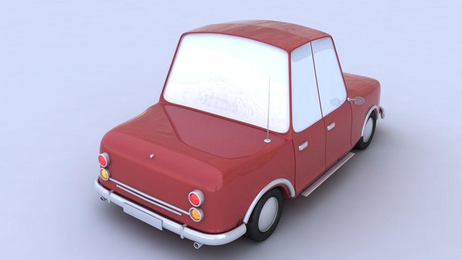 Cartoon car(1)(1) royalty-free 3d model - Preview no. 3
