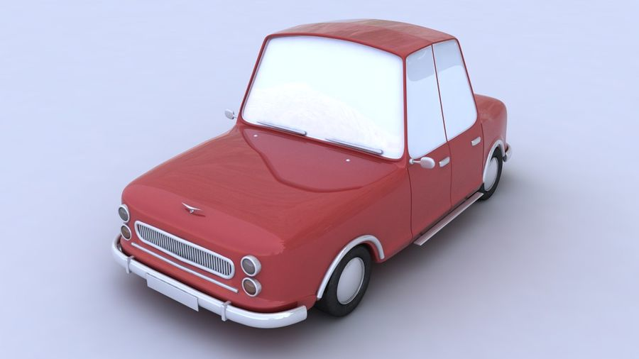 Cartoon car(1)(1) royalty-free 3d model - Preview no. 1