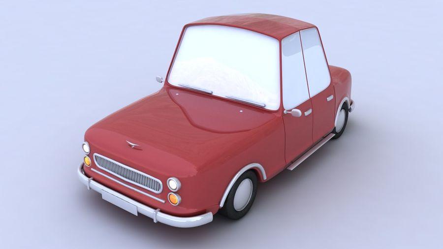 Cartoon car(1)(1) royalty-free 3d model - Preview no. 4
