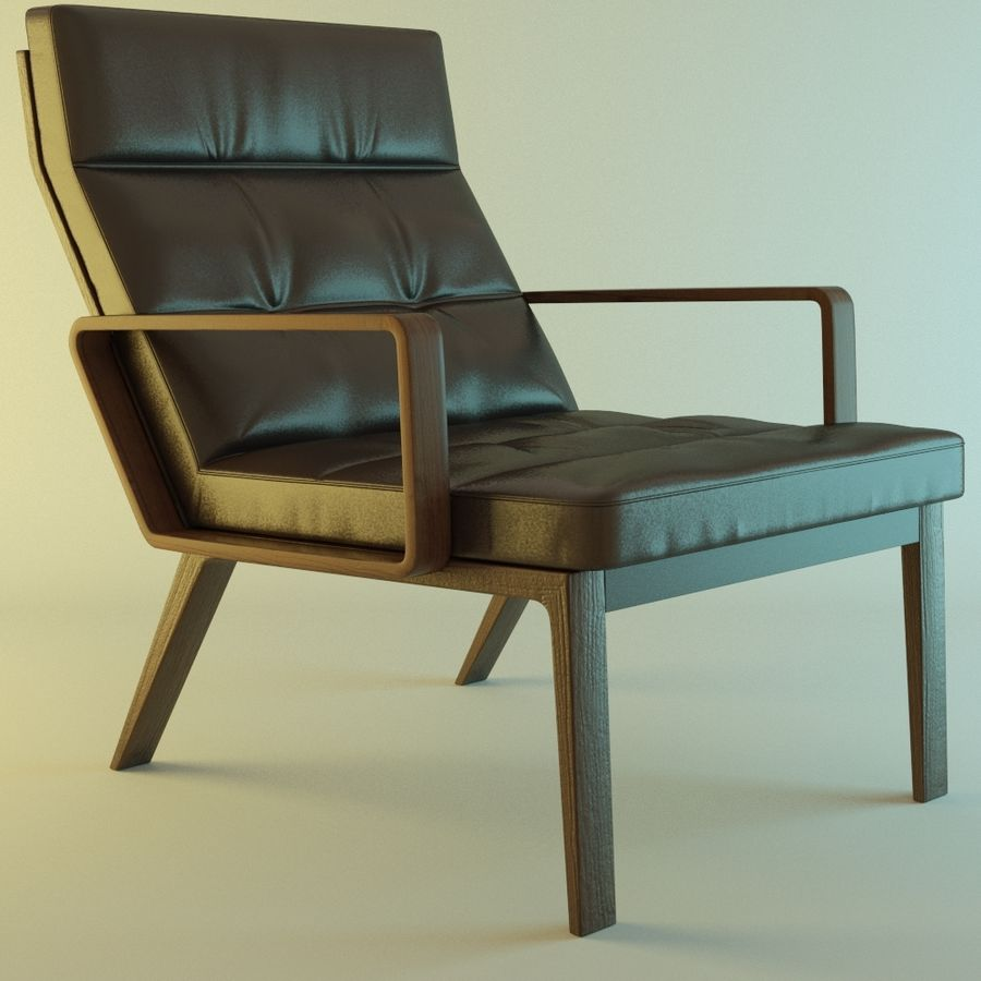 Кресло отдыха royalty-free 3d model - Preview no. 2