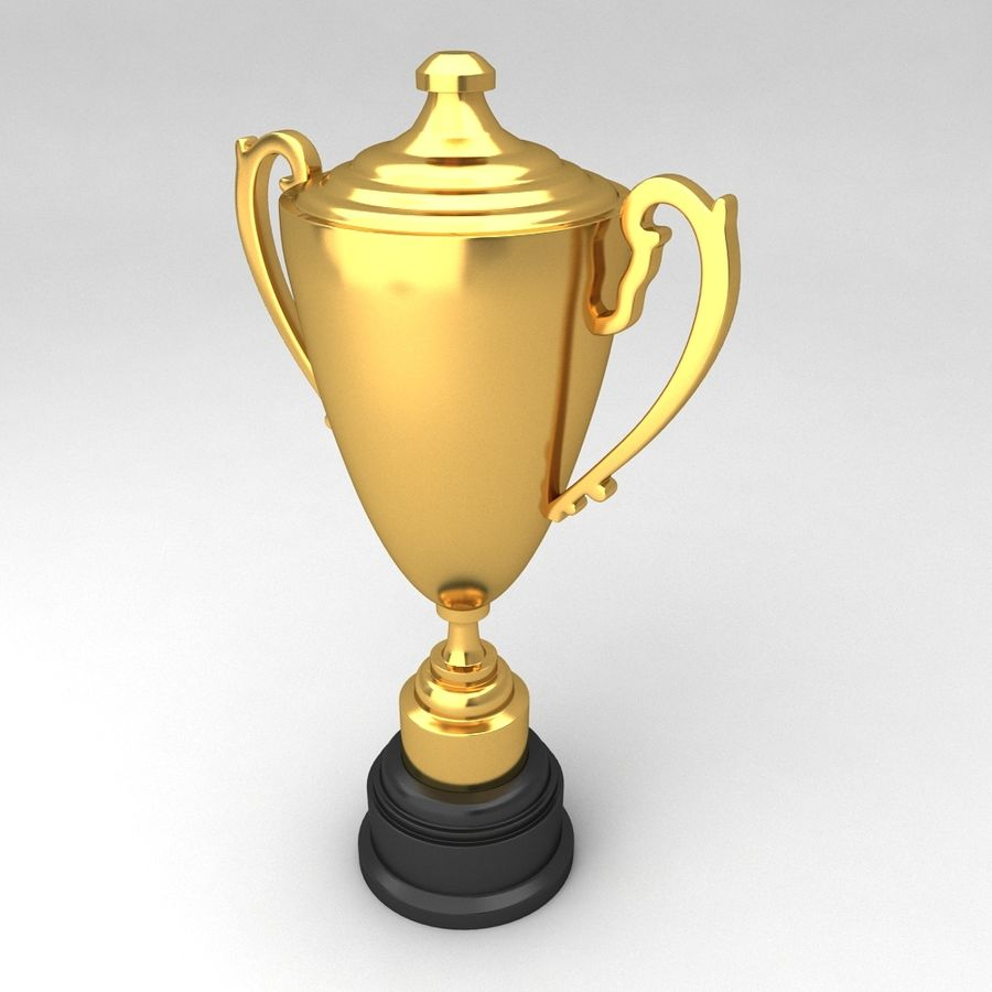 Awards Trophies 64 royalty-free 3d model - Preview no. 2