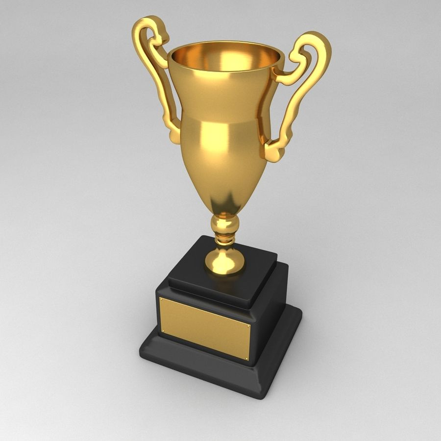 Awards Trophies 84 royalty-free 3d model - Preview no. 2
