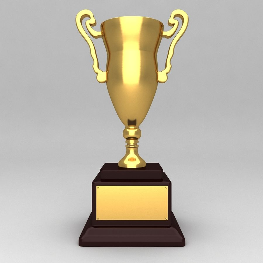 Awards Trophies 84 royalty-free 3d model - Preview no. 3