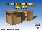 CAIXA DE PAPEL 3D LOWPOLY REALISTIC 3d model
