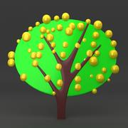 cartoon tree 64 3d model