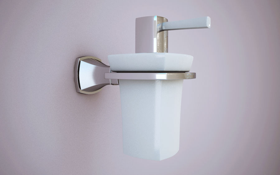 Banyo aksesuarları royalty-free 3d model - Preview no. 4