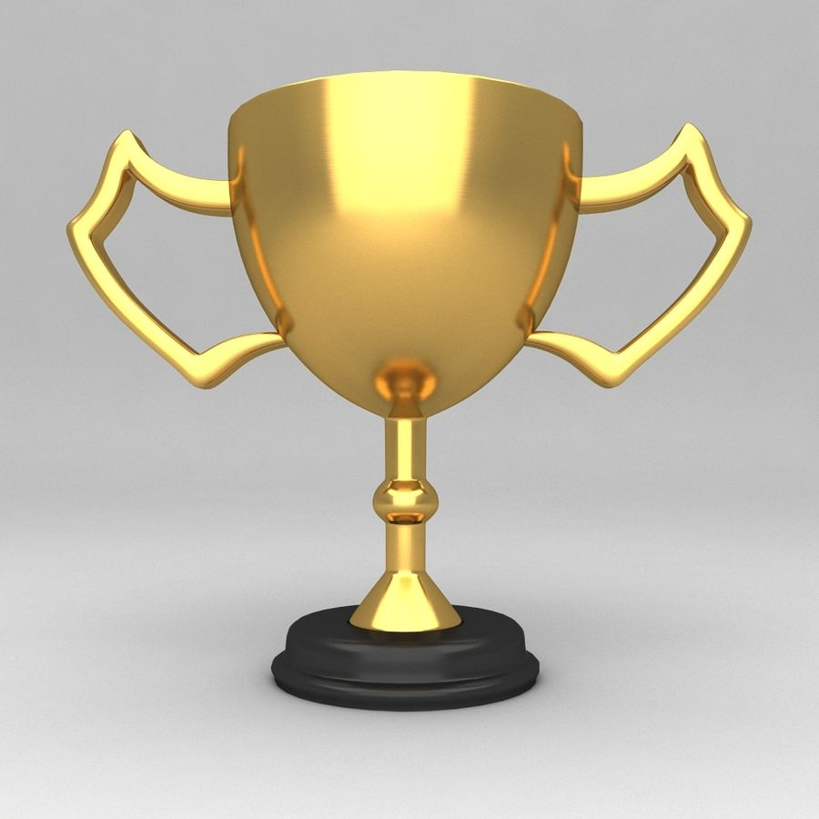 Awards Trophies 100 royalty-free 3d model - Preview no. 1