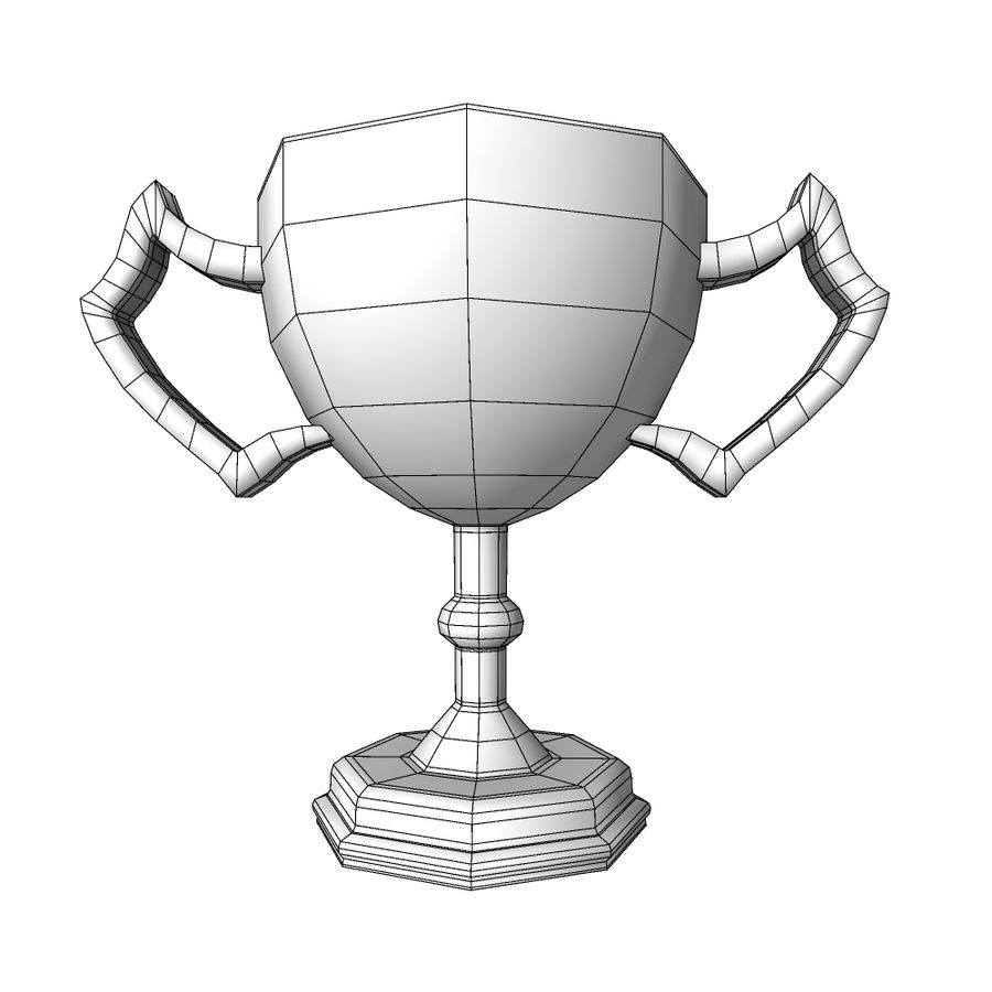 Awards Trophies 100 royalty-free 3d model - Preview no. 7
