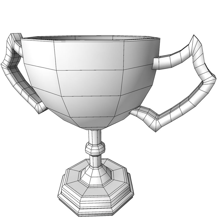 Awards Trophies 100 royalty-free 3d model - Preview no. 8