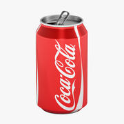 Old Coca-Cola can 3d model