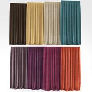Cortinas de colores modelo 3d