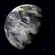 Earth gedetailleerd model 3d model