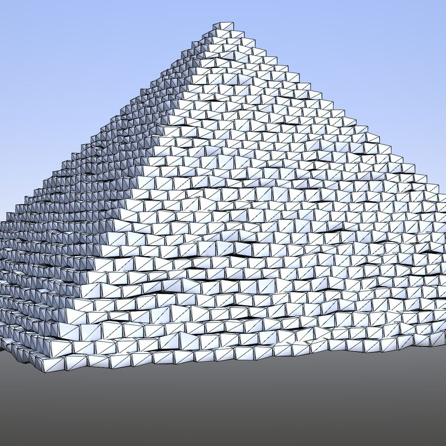 Step pyramid royalty-free 3d model - Preview no. 5