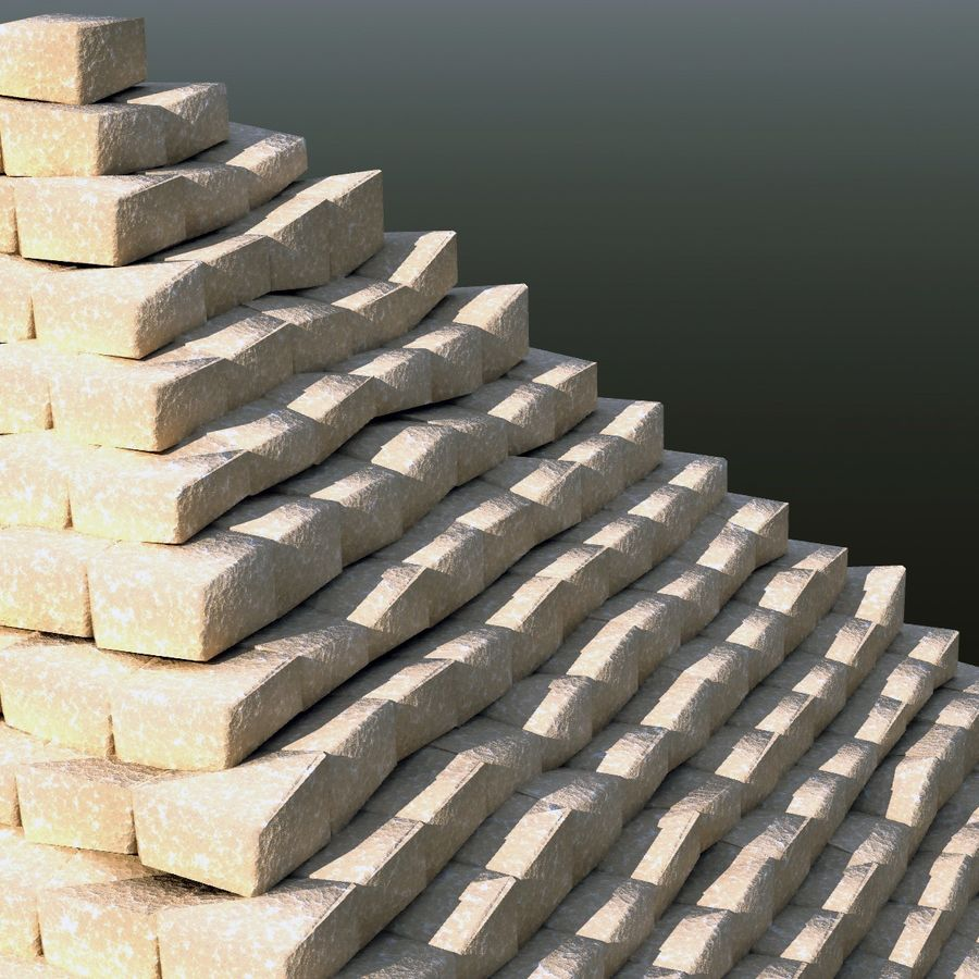 Step pyramid royalty-free 3d model - Preview no. 4