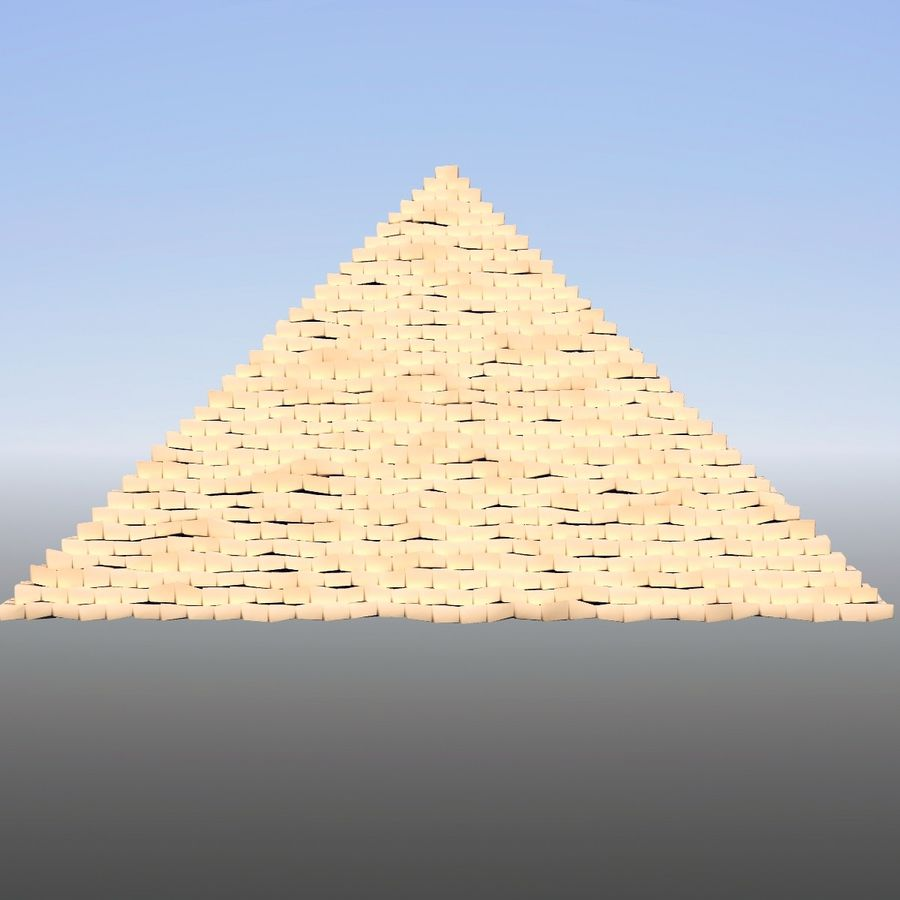 Step pyramid royalty-free 3d model - Preview no. 2