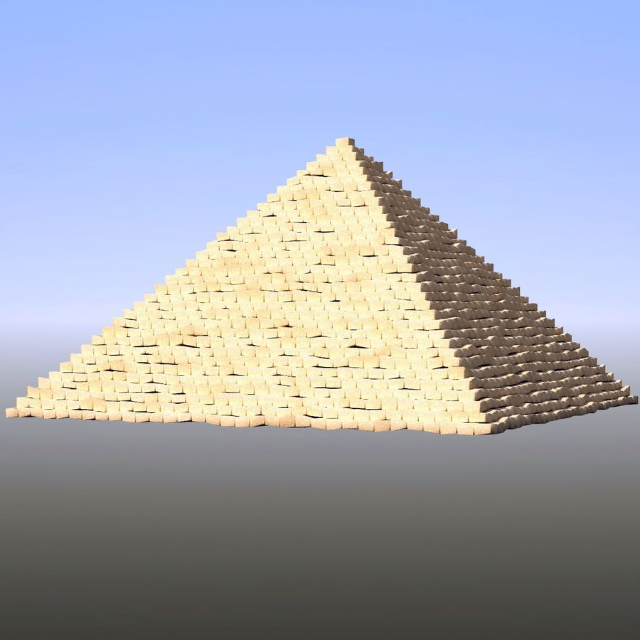 Step pyramid royalty-free 3d model - Preview no. 1