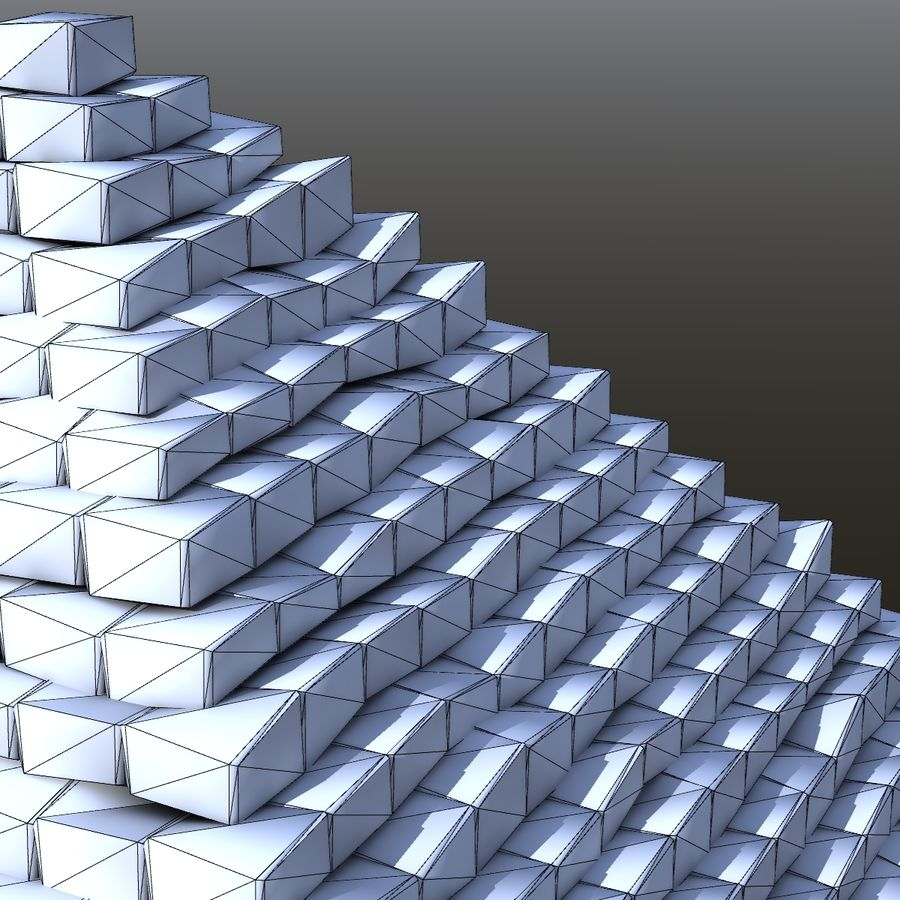 Step pyramid royalty-free 3d model - Preview no. 6