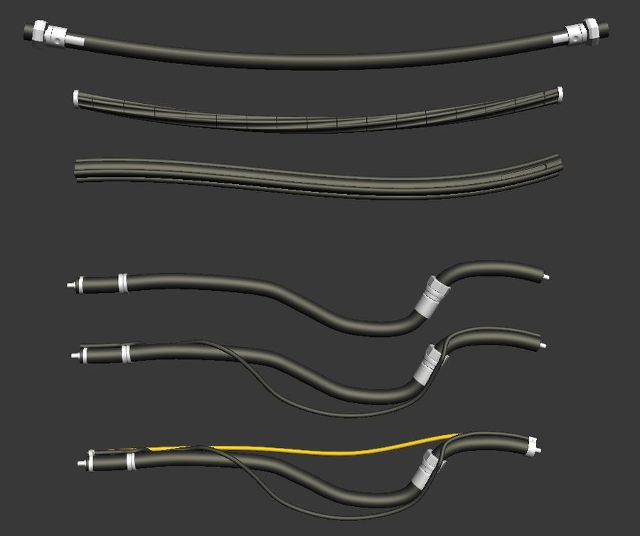 Cables Kitbash royalty-free modelo 3d - Preview no. 3