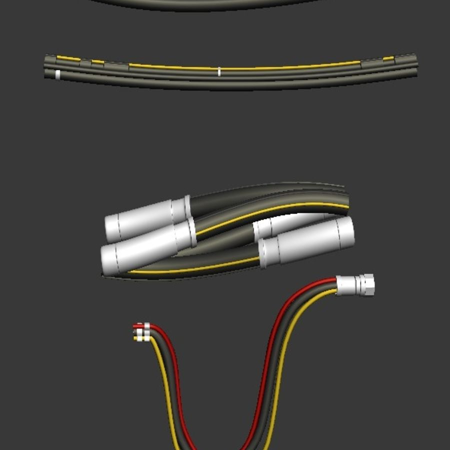 Cables Kitbash royalty-free modelo 3d - Preview no. 4