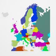 Europakarte 3d model
