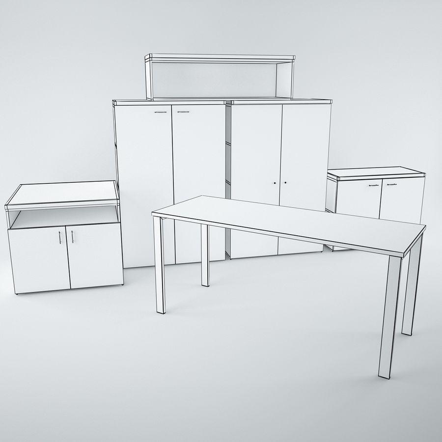 muebles de oficina royalty-free modelo 3d - Preview no. 16