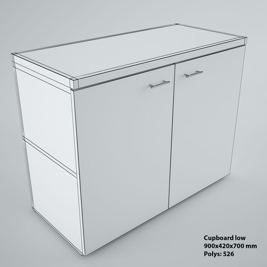 muebles de oficina royalty-free modelo 3d - Preview no. 24