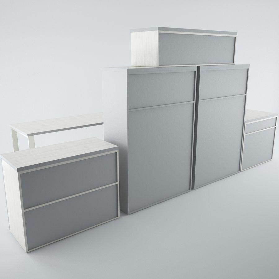 muebles de oficina royalty-free modelo 3d - Preview no. 2