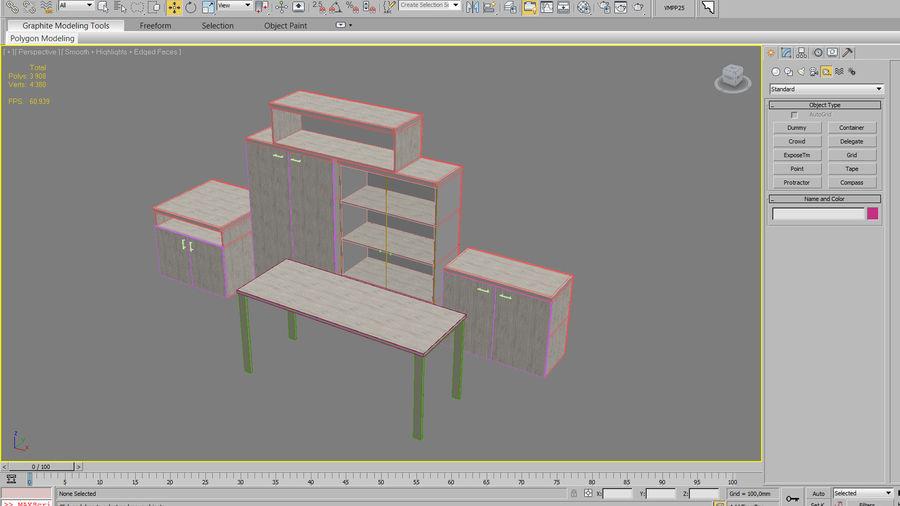 muebles de oficina royalty-free modelo 3d - Preview no. 30