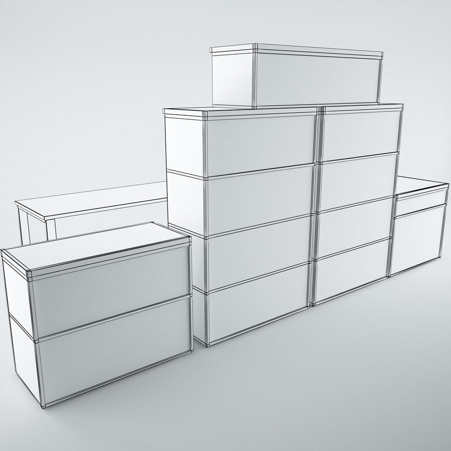muebles de oficina royalty-free modelo 3d - Preview no. 17
