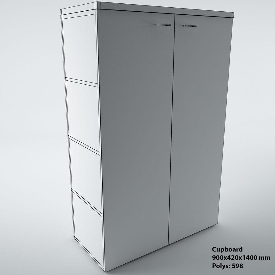 muebles de oficina royalty-free modelo 3d - Preview no. 20