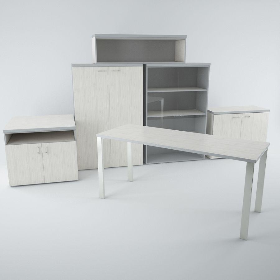muebles de oficina royalty-free modelo 3d - Preview no. 1