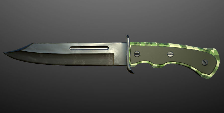 Combat Knife royalty-free 3d model - Preview no. 3