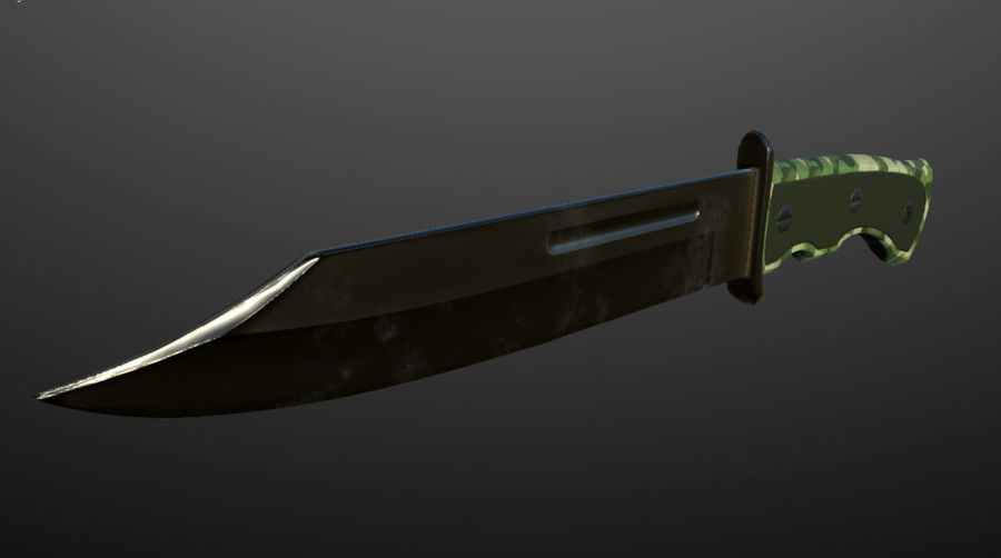 Combat Knife royalty-free 3d model - Preview no. 2