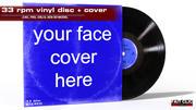 LP vinyl + cover 3d model