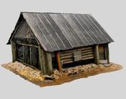 Russische Holzhütte 3d model