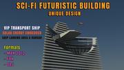 Futuristic Sci-Fi Building Model 3d model