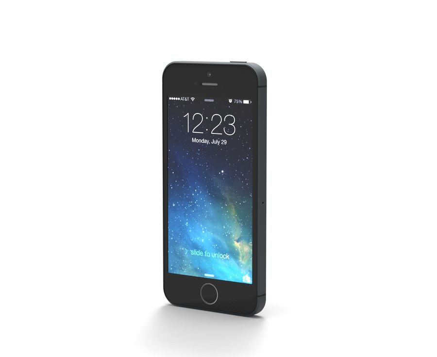 Apple iphone 5s royalty-free 3d model - Preview no. 2