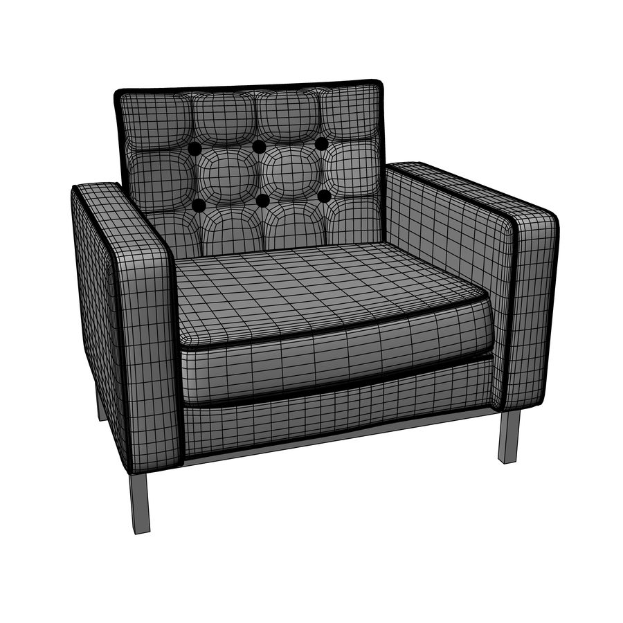 Arm chair royalty-free 3d model - Preview no. 4