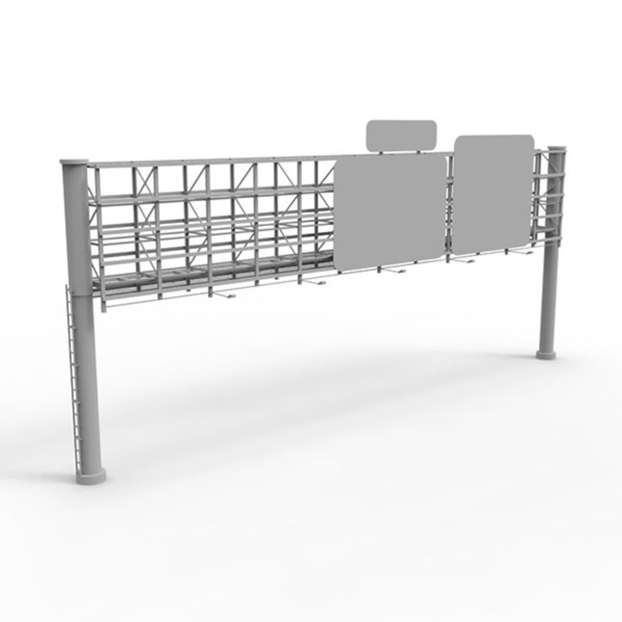 Highway Signage royalty-free 3d model - Preview no. 2
