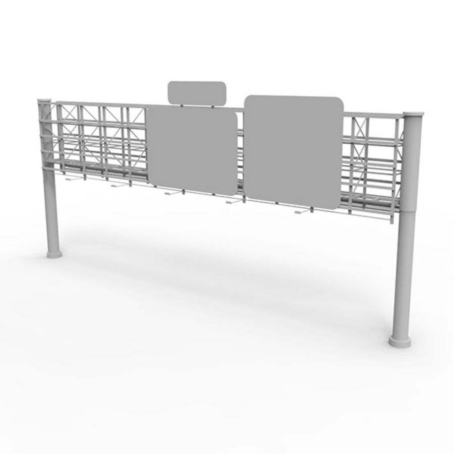 Highway Signage royalty-free 3d model - Preview no. 1