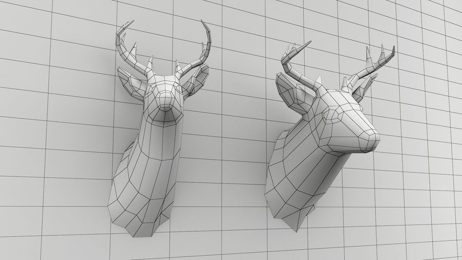 Taxidermie des cerfs (low poly) royalty-free 3d model - Preview no. 5
