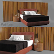 Lace bed 3d model