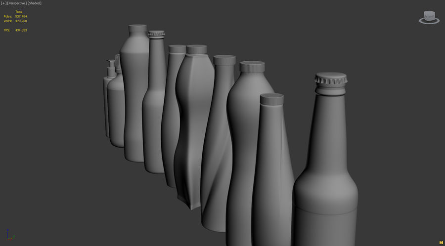 Various Bottles royalty-free 3d model - Preview no. 3