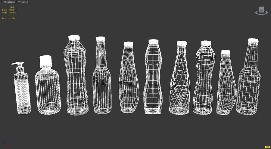 Various Bottles royalty-free 3d model - Preview no. 4