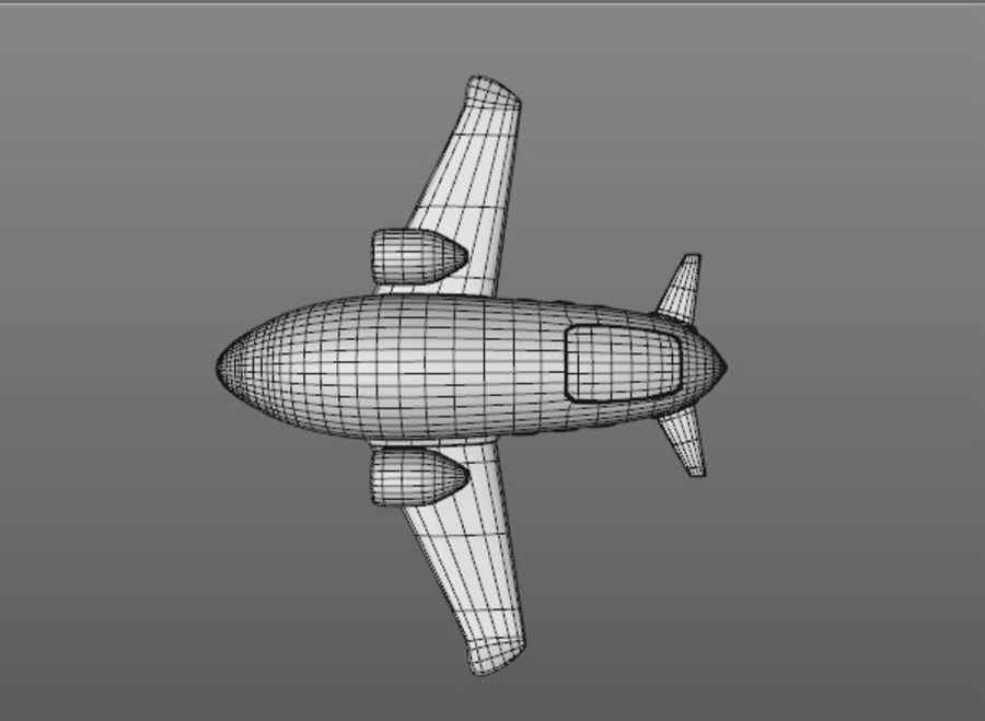 Cartoon Aeroplane royalty-free 3d model - Preview no. 4