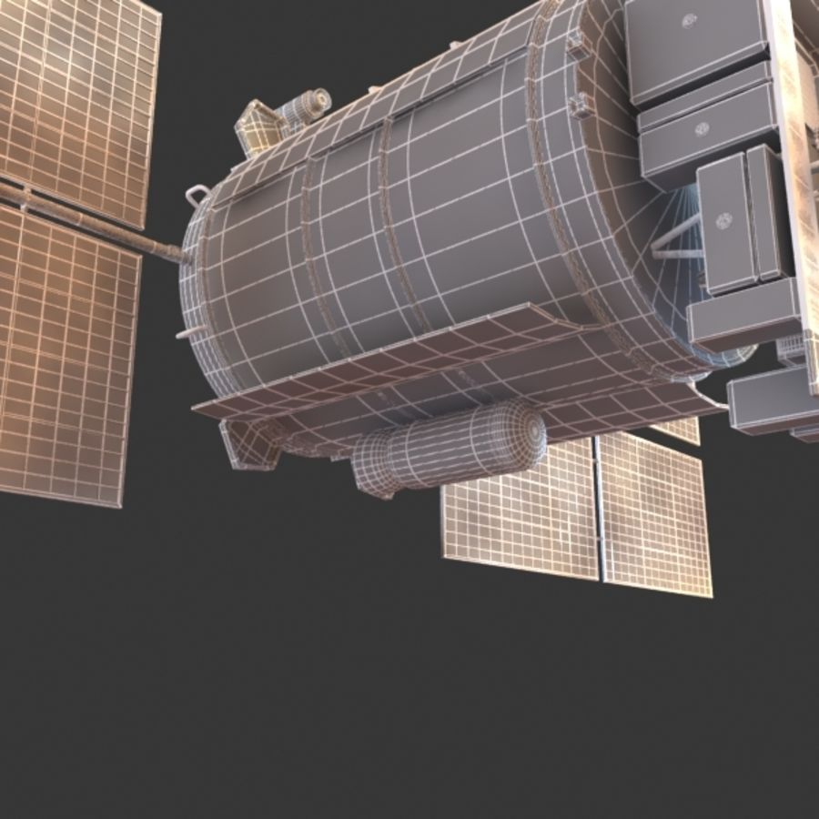 Satellite Glonass royalty-free 3d model - Preview no. 13