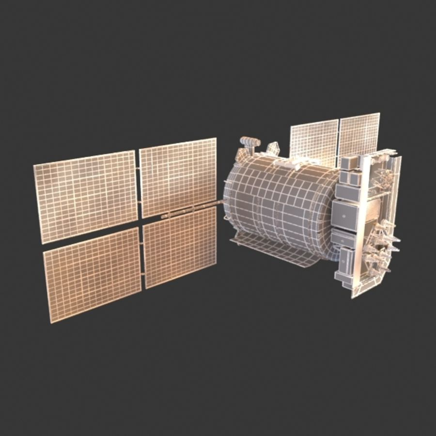 Satellite Glonass royalty-free 3d model - Preview no. 9
