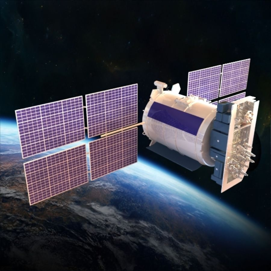 Satellite Glonass royalty-free 3d model - Preview no. 1