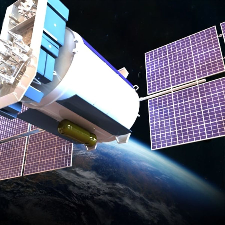 Satellite Glonass royalty-free 3d model - Preview no. 4
