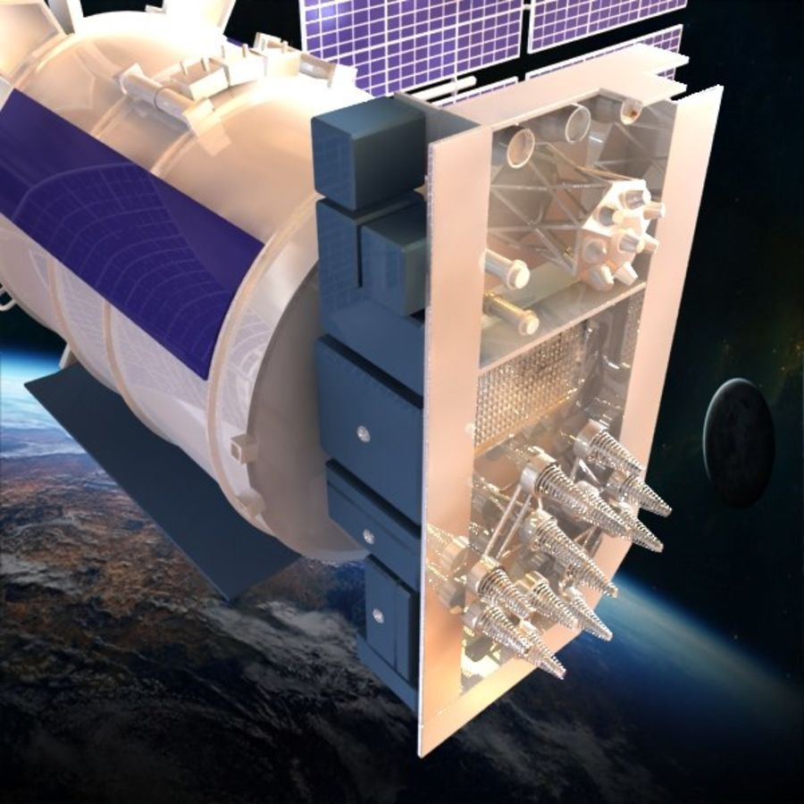 Satellite Glonass royalty-free 3d model - Preview no. 6